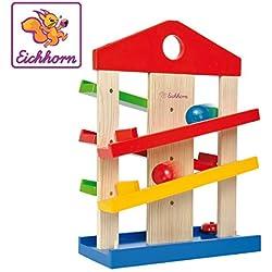Eichhorn - 100002025 - Jeu Bois - Maison en Bois - Roule Boule - + 3 Boules Incluses