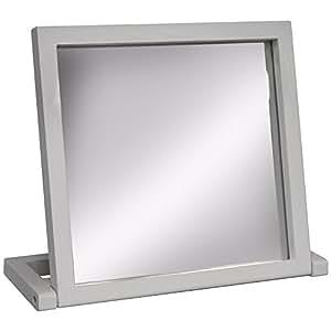 Witham pied pliable miroir de voyage salle de bain blanc for Miroir de voyage
