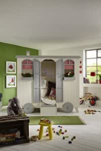 massives kinderbett bauwagen spielbett abenteuerbett. Black Bedroom Furniture Sets. Home Design Ideas