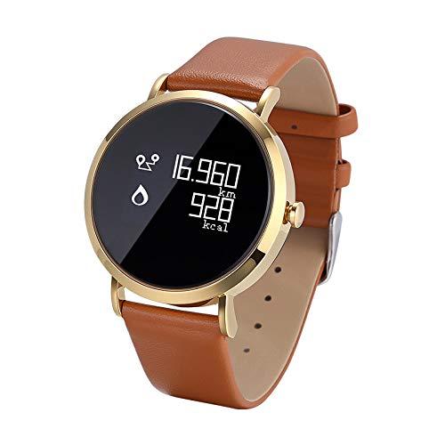 FGFLiimn Fitness Armband, Fitness Tracker Mit Pulsmesser Und IP67 Wasserdicht Fitness Uhr, Blutdruck Und Schlafmonitor Schrittzähler, Smart Watch with Vibration Wecker Aktivitätstracker,C-Steelstrip