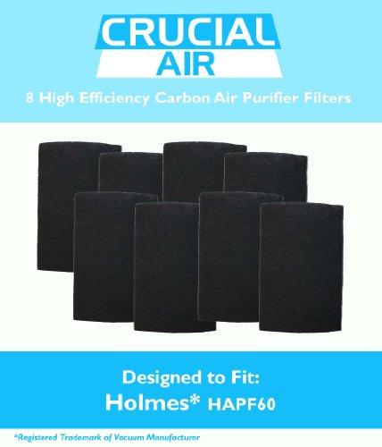 Holmes Filter Carbon (8Holmes hapf60Luftreiniger Carbon Filter, passt Holmes, Harmony, Bionaire und ge Luftreiniger, vergleichen zu Teil # hapf60, hapf60-u3& hapf60pdq-u, entworfen und hergestellt von Crucial Air)