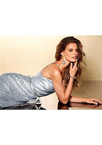 Laura Scott Evening Damen-Kleid Paillettenkleid Silber Größe 40 - 4