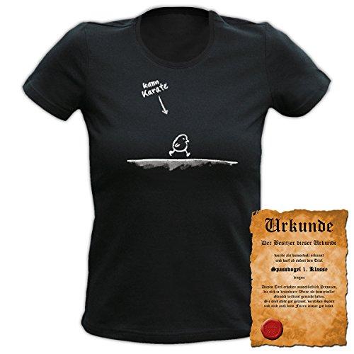 Fun T-Shirt 4 Girls ::: Kann Karate ::: Damen Top mit Urkunde