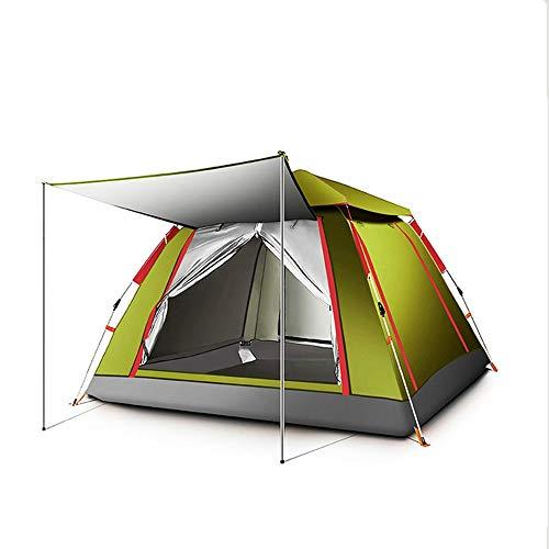 ZA Sofortige Pop-Up-Familie Campingzelt für Picknick Angeln Wandern Reisen, Outdoor Sundome Zelt, 2-4 Personen atmungsaktive Sonnencreme und Regenschutzzelt (Farbe : C)