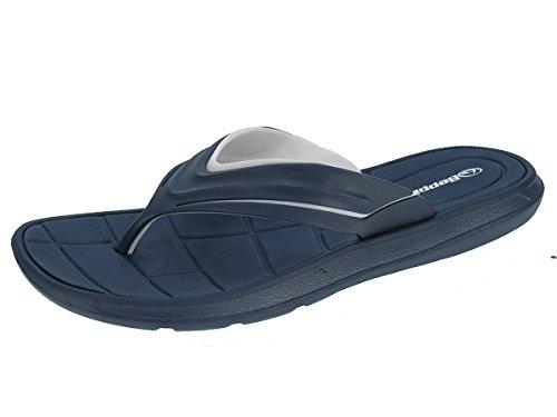 Beppi Herren Zehentrenner Badelatschen Badeschuhe Sommerlatschen Navyblau