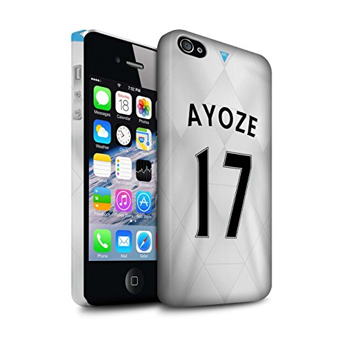 Offiziell Newcastle United FC Hülle / Matte Snap-On Case für Apple iPhone 4/4S / Tioté Muster / NUFC Trikot Away 15/16 Kollektion Ayoze