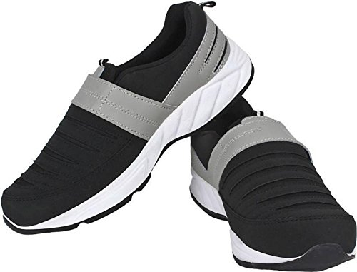 Vao Men's Black Running Shoes (V-Mocassions) (7 UK, Black)
