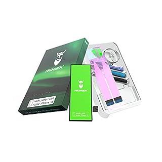 Hagnaven® Li-Polymer Akku für iPhone 5s | Produktionsjahr 2018 | LEISTUNGSSTÄRKSTER Ersatzakku | 1660 mAh Premium Batterie inklusive WERKZEUGSET AKKULAUFZEIT | Hochwertigste QUALITÄTSZELLEN
