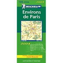 Carte routière : Environs de Paris-départements 78-92-93-94-95