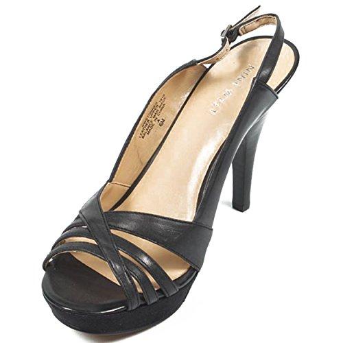 Fionda Donna Indietro WEST Nero Sandali 10 cm NWSTUNNER NINE BLACK Tacco qAwgI55