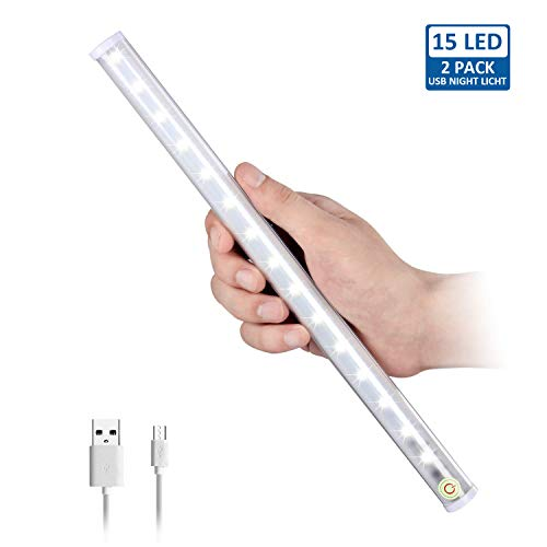 Die Upgrade-Version LED Spiegelleuchte zum Schminken, 6500 Kelvin Simuliert Tageslicht, Schranklicht Mit Dimmfunktion, Für Zuhause, Unterwegs, Outdoor, Camping (2 PACK)