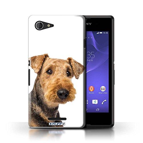 Kobalt® Imprimé Etui / Coque pour Sony Xperia E3 / Bull Terrier conception / Série Chiens Airedale Terrier