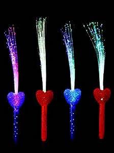 Plumeau lumineux forme coeur livre avec pile