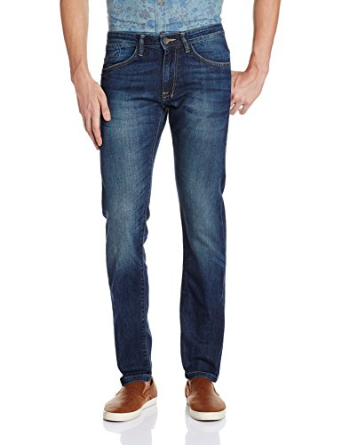 Newport Men's Slim Fit Jeans (8907542143528_269262951_36W x 32L_Blue Mid Stone)  available at amazon for Rs.599