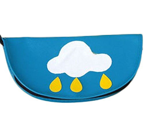 CAOLATOR Multifuncional de Lápiz de Nubes Blancas Bolso Bolsa de Maquillaje Bolsa de Almacenamiento Cojín de Ratón (Azul)