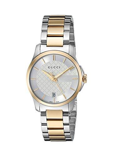 Gucci Suisse à quartz en acier inoxydable Robe Bicolore montre femme (modèle: Ya126563)