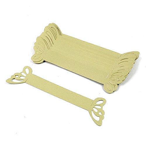 50x Pearly Papier Serviette Ringe Laser geschnitten Schmetterling für Hochzeitsgastgeschenke Banquet Home Tisch Dekoration gold