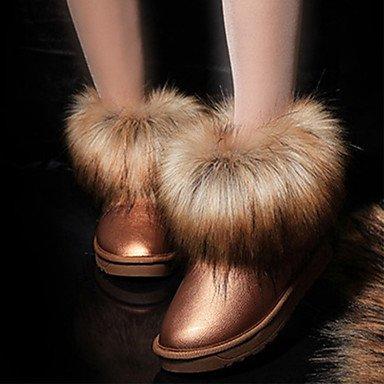RTRY Scarpe Da Donna In Pelle Nubuck Autunno Inverno Lanugine Fodera Comfort Novità Snow Boots Fashion Stivali Stivali Tacco Piatto Round Toe Stivaletti/Caviglia US8.5 / EU39 / UK6.5 / CN40
