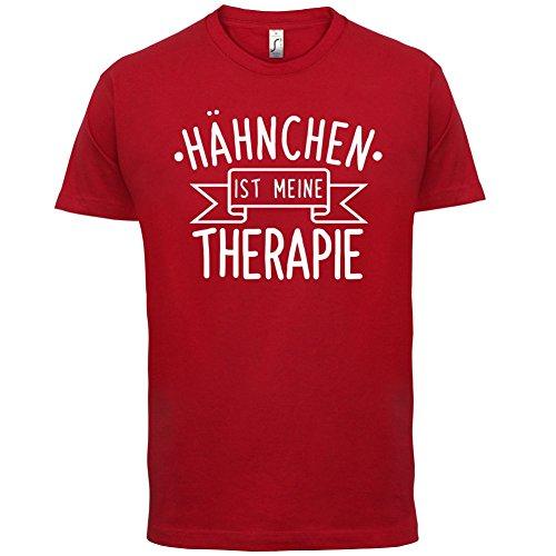 Hähnchen ist meine Therapie - Herren T-Shirt - 13 Farben Rot