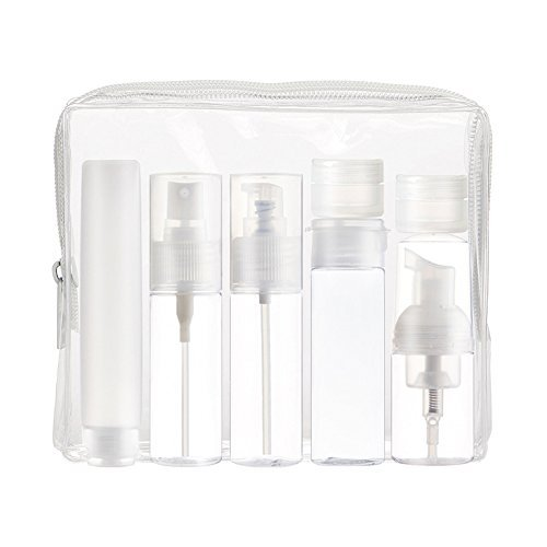 HGDGears 7-er Set Reise Flaschen, reiseset flüssigkeiten behälter handgepäck reisegrößen kosmetik flaschen zum befüllen für Shampoo Körperpflege Lotion Creme