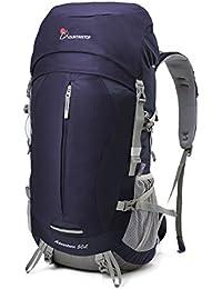 MOUNTAINTOP 50/55/60L Mochila de Senderismo Impermeable Multifuncio/Mochila Trekking/Escalada