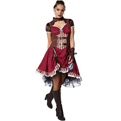 dressforfun 900483 - Costume Donna Adulti Gentildonna Steampunk, Abito in Raso con Gonna a più Strati (L | No. 302297)
