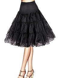 """Jupon années 50 vintage en tulle raffiné Rockabilly Petticoat longueur 66cm/26"""" Robe Tutu Noire Blanche Rouge Bleu Saphir Jaune Ivoire"""