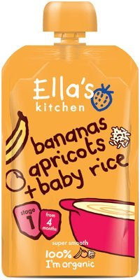 Ella's Kitchen - Stage 1 Baby Rice - Banana & Apricot - 120g (Case of 7)