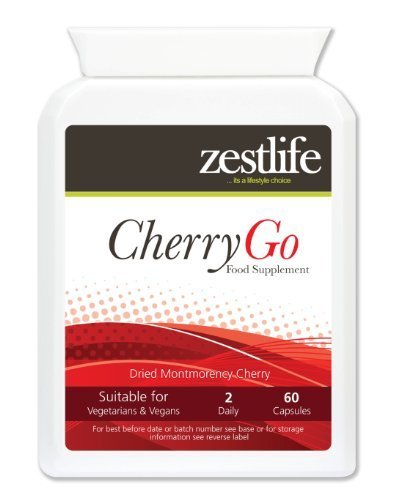 Zestlife CHERRY GO Montmorency Kirsche 550mg 60 Caps . Montmorency Kirschen entdeckt worden , um eine reiche Quelle von potenten , natürlichen Antioxidantien und Flavonoide werden