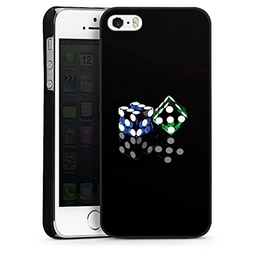 Apple iPhone 4 Housse Étui Silicone Coque Protection Dé Jeu Miroir CasDur noir
