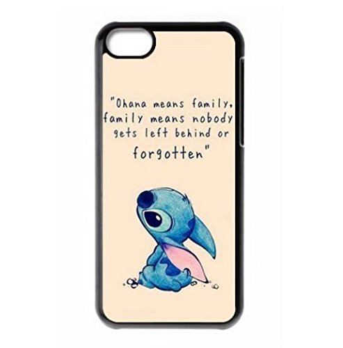 EatMyCase TM Armband & Stitch Ohana iPhone Fall (iPhone 4 4S 5 5S 5 C 6 6S 6Plus 6splus) – Ohana means family, family means nobody gets left behind or forgotten, iPod Touch 5G