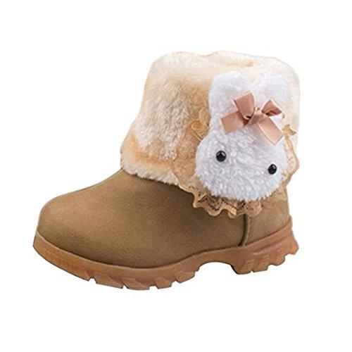 Arrowhunt Baby Mädchen Schnee Stiefel Winterstiefel Winter Schuhe Etikett 24/5.0UK 14.5cm Kaffee