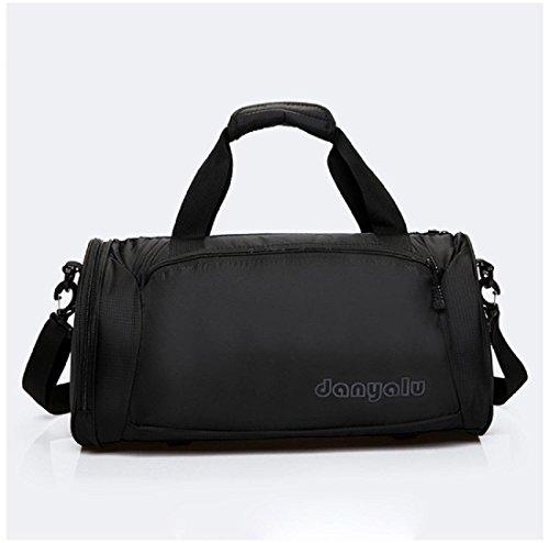 Portatile borsetta bagaglio Sacchetto del messaggero Cilindro cerniera Borsa a tracolla , pink Black