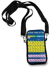 ESTLISS Tabla Periódica de Elementos – Pequeño teléfono Celular Wallet Purse, Mujer Shuldder Bag Phone