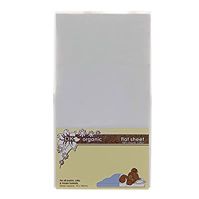 DK Glovesheets Flat Sheet for Prams and Cribs (Organic White)