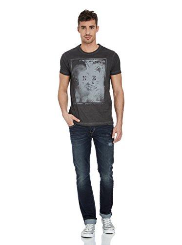 One Green Elephant Herren Shirt Motiv T-Shirt Molde Slim Fit Vintage Schwarz