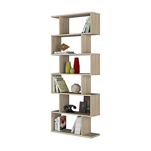 13Casa Kafka D10 Libreria, 80 x 25 x 192 H Cm, Rovere, Melamina, legno