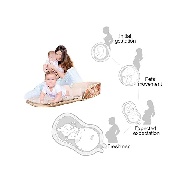 YANGGUANGBAOBEI Portable Baby Crib,Breathable - Hypoallergenic Co-Sleeping Baby Bed, For 0-24 Months-for Bedroom/Travel Camping,Black(B) YANGGUANGBAOBEI [From Baby Bed to Backpack, Even Diaper Bag] It creates a comfy, cozy and safe space to co-sleep, nap for your baby. Folding design transforms it to a backpack in seconds. Extra inner space makes it to be a alternative diaper Bag . [Lightweight Changing Station with Sound - Light] The baby bed and portable cosleeper can also be used used as a diaper changing mat.This perfect and practical solution makes mother's whole traveling with baby easier and more relax. [Waterproof Mattress - Easy To Clean] The pad of the bassinet is waterproof, while the entire removable liner is machine-washable so you don't have to worry about spills, messes, or rough terrain. Keeps your baby's lounger clean and hygienic. 2