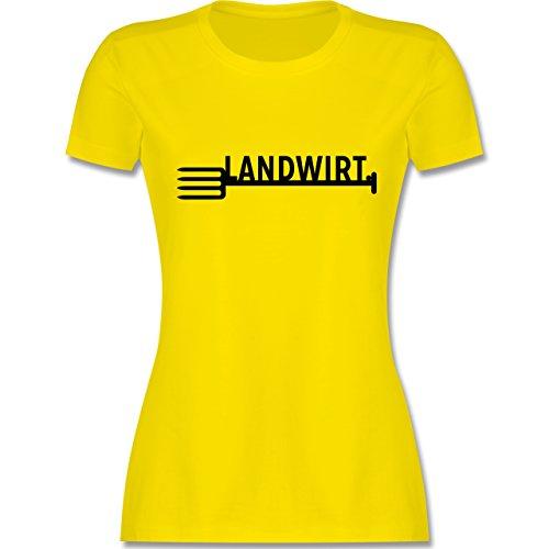 Landwirt - Landwirt - tailliertes Premium T-Shirt mit Rundhalsausschnitt für Damen Lemon Gelb