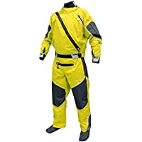 Level Six Triton Drysuit traje seco Kayak traje de kayak traje de buceo color amarillo