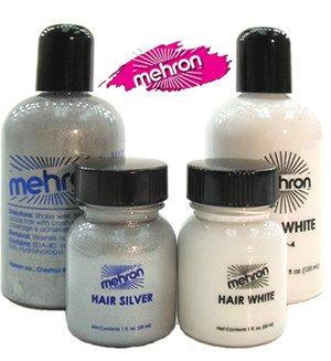 Mehron Cheveux Blanc / Argent - Argent, 133ml