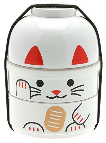 Kotobuki Lucky Cat Bento Set, White by Kotobuki (Kotobuki-bento)