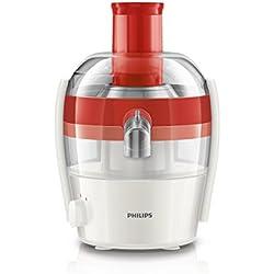 Philips Viva Collection Centrifugeuse 400 W, 1,5 l en une seule fois, rapide à nettoyer rouge