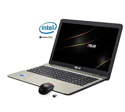 ASUS VivoBook Notebook (15,6 Zoll HD Matt) Intel Dual Core ,4 GB RAM, 500 GB HDD, mit Windows 10 Professional ,Inkl. Mouse wireless[Layout Italienisch] -