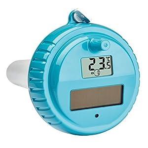 TFA Dostmann Piscina Termometro 30.3056.10 Venezia, per Il monitoraggio della Temperatura dell'Acqua nella Piscina, laghetto e la Vasca idromassaggio, Grigio