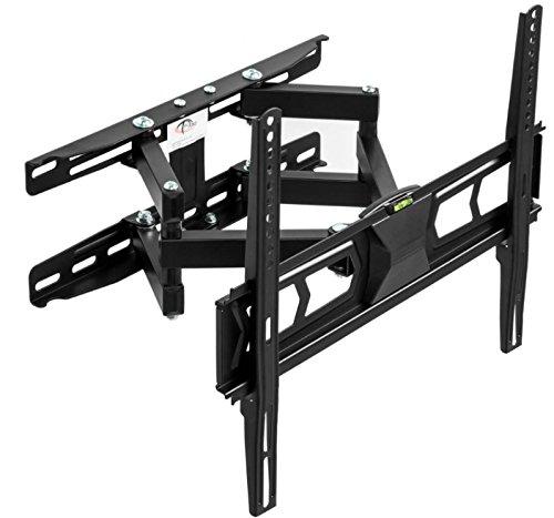 TecTake TV Wandhalterung für Flachbildschirme neigbar schwenkbar max VESA 400x400 bis 90kg Plasma LCD LED 82cm (32 Zoll) - 140cm (55 Zoll) Wandabstand 6,6-34cm