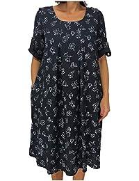 GARDEROBE DE SAINT TROPEZ Abito Donna Mezza Manica con Tasche Laterali MOD.  107 Lunghezza cm bccbe84cec1