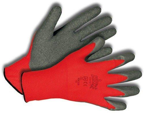 KIXX Kinder Handschuh Nylon/Latex Rot/Grau, Gr. (Kind Grau Handschuhe)