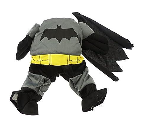 Batman-Kostüm, für Katzen und kleine Hunde geeignet, lustiges Outfit mit Wärmefunktion