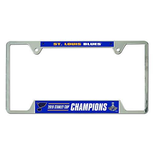 Wincraft St. Louis Blues 2019 Stanley Cup Champions Kennzeichenrahmen aus verchromtem Metall (License Missouri Plate)